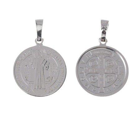 M89 Medalik srebrny - Medalik Świętego Benedykta