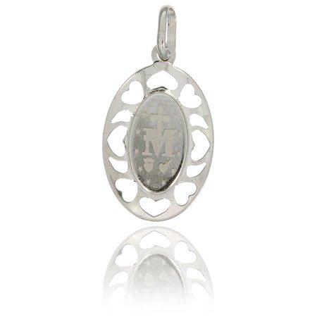 Medalik srebrny (1,4 g) - Matka Boża Niepokalana Cudowny medalik MK006