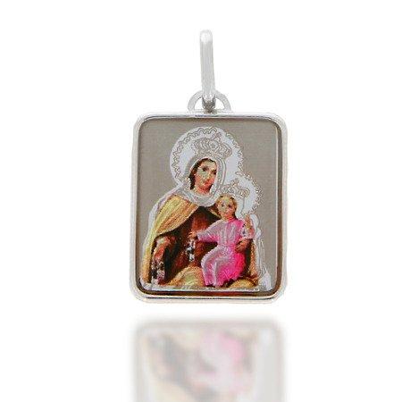 Medalik srebrny (2,1 g) - Matka Boża Szkaplerzna Szkaplerz medalik MK021