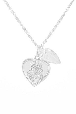Medalik srebrny (2,1 g) - Serce otwierane Matka Boska Skaplerzna  MK034