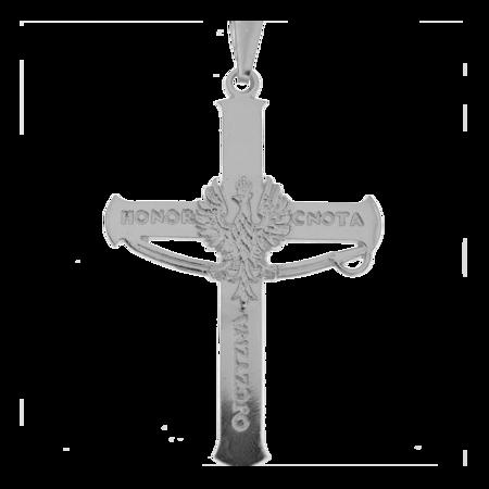 Medalik srebrny - Krzyżyk z Orłem w koronie MO134