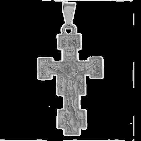 Medalik srebrny - Krzyżyk z wizerunkiem Jezusa MO117