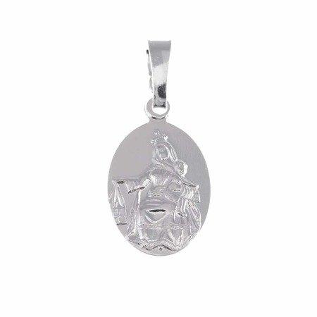 Medalik srebrny - Matki Bożej Szkaplerznej Szkaplerz M021