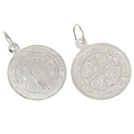Medalik srebrny - Medalik Świętego Benedykta Eko ML006