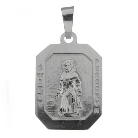 Medalik srebrny - Święty Peregryn M114