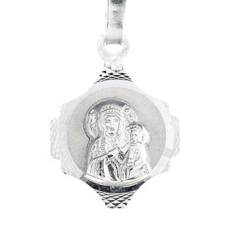 Medalik srebrny diamentowy - Matka Boska Częstochowska MD37