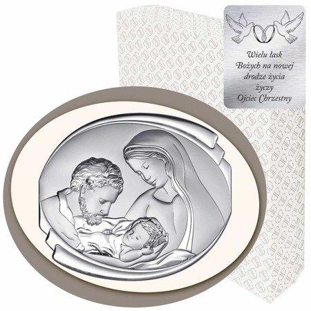 Obrazek Srebrny Święta Rodzina 6498CC