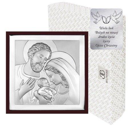 Obrazek Srebrny Święta Rodzina w ramce 6435WM