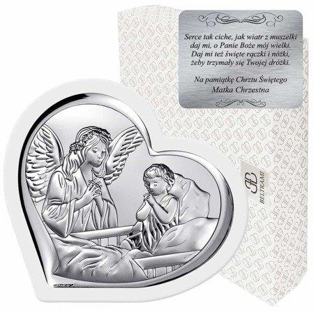Obrazek srebrny Anioł Stróż 6512W