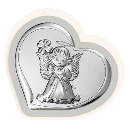 Obrazek srebrny Aniołek Pamiątka Chrztu 6447PG