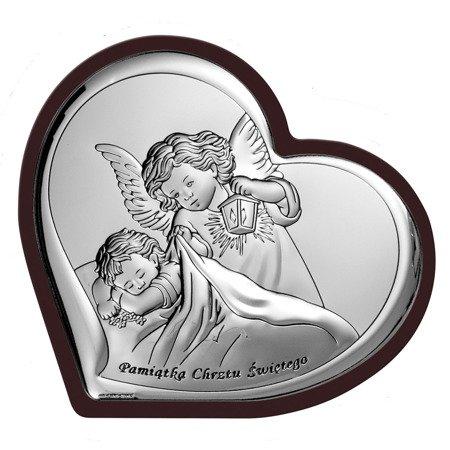 Obrazek srebrny Aniołek Pamiątka Chrztu Świętego 6449WM