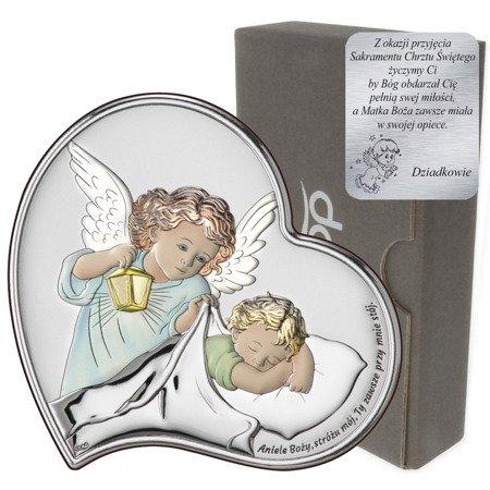 Obrazek srebrny Aniołek Twój Anioł Stróż DS18C
