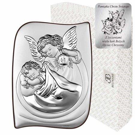 Obrazek srebrny Aniołek z latarenką 6473