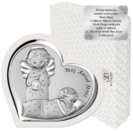 Obrazek srebrny Aniołek z latarenką 6549W