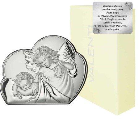 Obrazek srebrny Aniołek z latarenką 81257