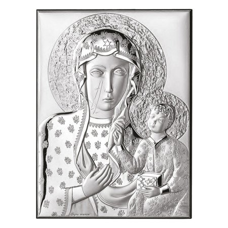 Obrazek srebrny Matka Boska Częstochowska 306102