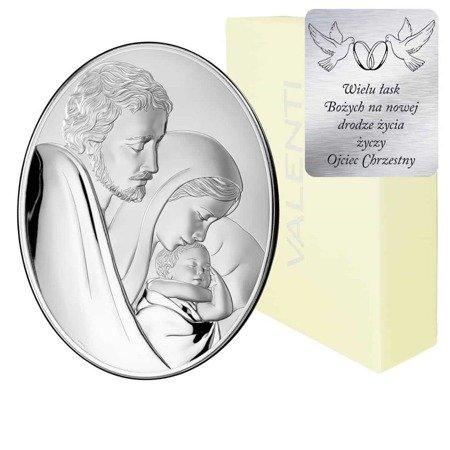 Obrazek srebrny Święta Rodzina 81242