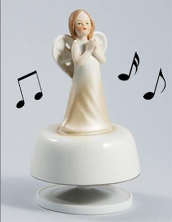 Pozytywka obrotowa Aniołek modlący się H 15 cm 315-5208