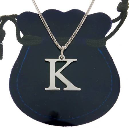 Przywieszka Srebrna literka K 2 cm pr.925