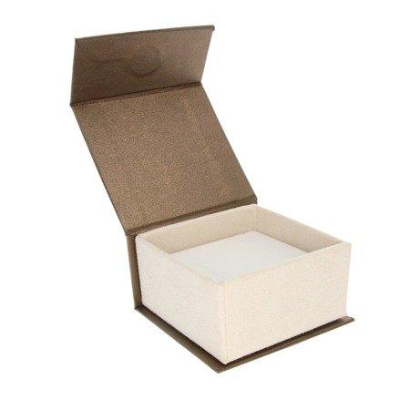 Pudełko na biżuterię eleganckie brąz / ecrue BA-8 115 x 85 c 35