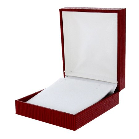 Pudełko skórzane czerwone 8x7cm PDH-6/A7