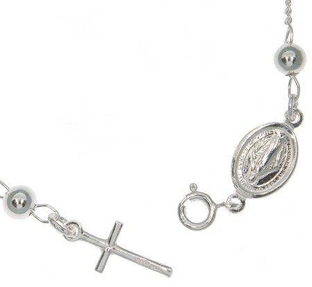 Różaniec na nadgarstek srebrny - bransoletka na rękę, dziesiątka, 3,4-4,1 g, srebro pr. 925 BRP28
