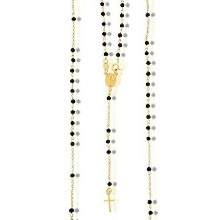Różaniec srebrny pozłacany - 5 dziesiątek na szyję 7,4-7,8 g, srebro pr. 925 RC004