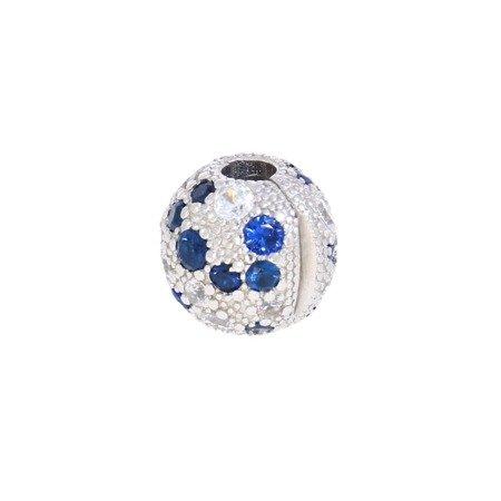 Srebrna przywieszka pr 925 Charms kropeczki cyrkonie PAN052