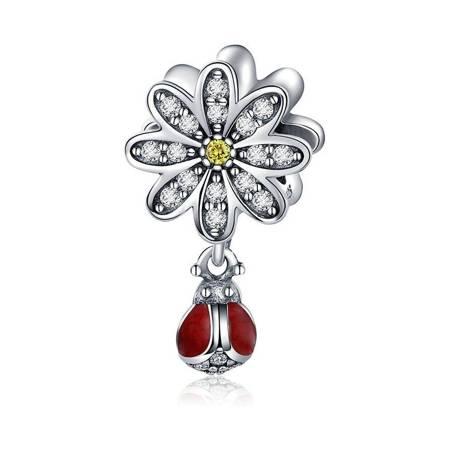 Srebrna przywieszka pr 925 Charms kulka owale cyrkonie PAN078