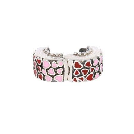 Srebrna przywieszka pr 925 Charms ring serca róż czerwone PAN075