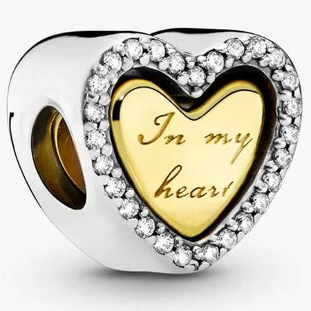 Srebrna przywieszka pr 925 Charms serce In my heart PAN184