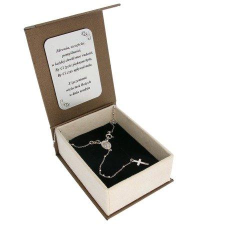 Zestaw różaniec srebrny rodowany - 5 dziesiątek 4,2g, 2mm pr. 925 RC023/BA-6/A21