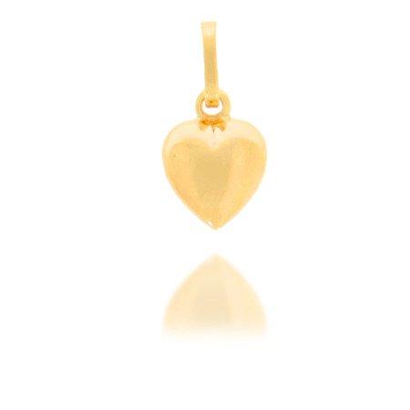 Złota przywieszka pr. 585 Serce średnie gładkie ZP021