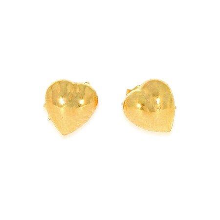 Złote kolczyki pr. 585 Serduszko gładkie sztyft ZA009