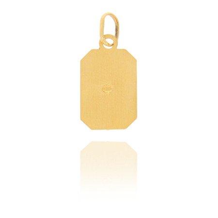 Złoty krzyżyk pr. 585 Chrystus ukrzyżowany prostokąt ZK010