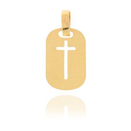 Złoty krzyżyk pr.585 Krzyżyk ażurowy ZK011