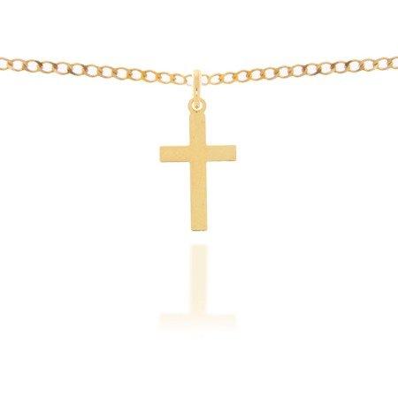Złoty krzyżyk pr. 585 Krzyżyk płaski gładki ZK018