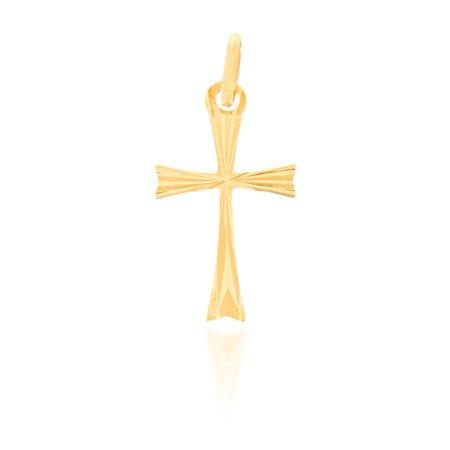 Złoty krzyżyk pr. 585 Krzyżyk rozszerzany promienie ZK005