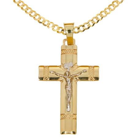Złoty krzyżyk pr. 585  ZK064