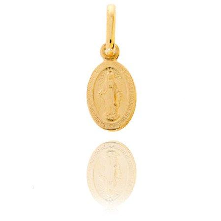 Złoty medalik pr. 585 Cudowny M.B. Niepokalana ZM001