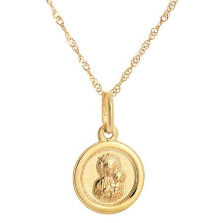 Złoty medalik pr. 585 M.B. Częstochowska koło ZM052