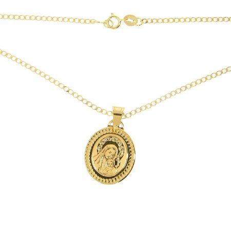 Złoty medalik pr. 585 M.B. z dzieciątkiem owal ZM007