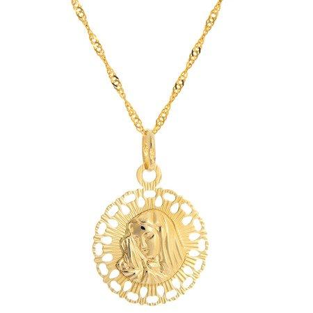 Złoty medalik pr. 585 Matka Boska Bolesna  ZM098