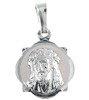 Medalik srebrny diamentowy - Wizerunek Jezus w Koronie cierniowej MD29