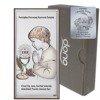 Obrazek Srebrny Pamiątka I Komunii dla chłopca prostokąt z podpisem kolor DS30CO