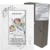 Obrazek srebrny kolorowy Aniołek Twój Anioł Stróż DS02FOC
