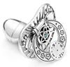 Smoczek srebrny  z zegarem I STÓPKAMI NIEBIESKA CYRKONIA pr 925 SM20