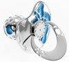 Smoczek srebrny z zegarem niebieski pr 925 SM04