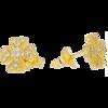 Złote kolczyki pr. 585 koniczynka cyrkonie sztyft ZA021
