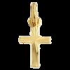 Złoty krzyżyk pr. 585 Krzyżyk mały płaski promienie ZK002
